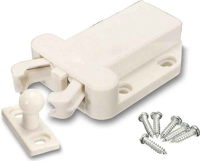 Ogquaton Prime Qualit/é Haute Qualit/é Push to Open Beetles Tiroir Cabinet Tampon pour Armoires De Porte Tiroirs-Armoire Outil Blanc