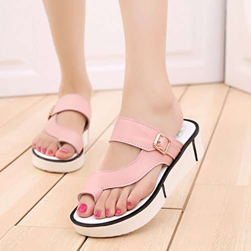 OME&QIUMEI Chanclas Rosa