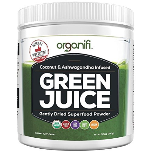 Organic Superfood Powder- Organifi Green Juice Superfood Supplement - 30 Day Supply - USDA Certified Organic Vegan Greens- Hydrates and Revitalizes - Boost Immune System - Support Relaxation and (Green Chili Powder)