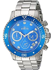 Invicta Mens Pro Diver Quartz Stainless Steel Diving Watch, Color:Silver-Toned (Model: 21890)
