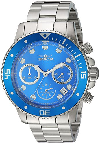 Invicta Men s Pro Diver Quartz Diving Watch with Stainless-Steel Strap, Silver, 22 Model 21890