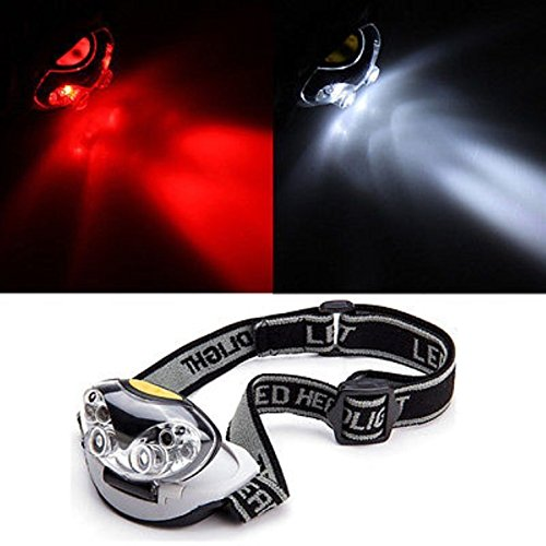 1 Set Inspiring Fashionable 1200 Lumen 6 LED Flashlight Headlamp 3 Modes White Red Headlight Headlights Ultra Xtreme Tactical Bright Light Waterproof Outdoor Running Fishing Camping Lights Color Black