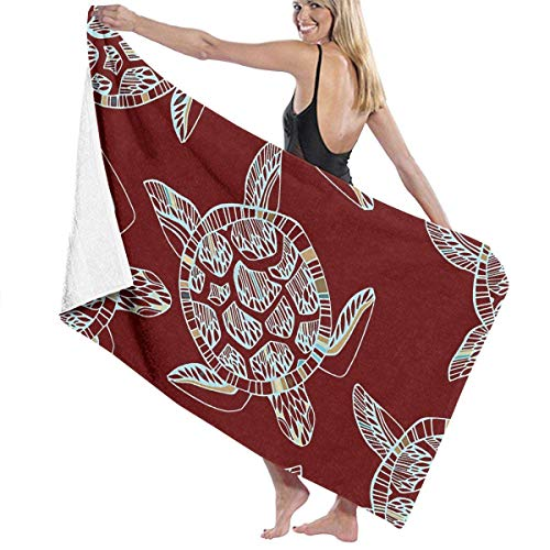 Jearvy Sea Turtle Clip Art Adult Microfiber Beach Towel Oversized 31x51 Inch Quick Dry Highly Absorbent Multipurpose Use Bath Towel for Women Men ()