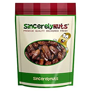 Sincerely Nuts Whole Pitted Dates- Three Lb. Bag - Packed with Fiber & Minerals - Irresistibly Scrumptious - Guaranteed Freshness - Kosher Certified