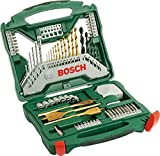 Bosch 2607019329 Titanium Drill and Screwdriver Set, 70 Pieces