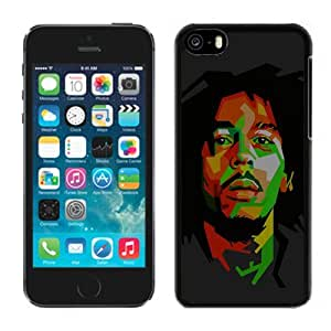 Bob Marley Dark Art Illust Music Reggae Celebrity Hard Plastic iPhone 5C Protective Phone Case