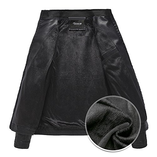 Vintage Veste Multi Zicac poches Cuir Homme Jacket En Blouson Rq6xqF8wP