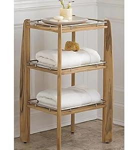gradea teak wood bath shower shelf organizer