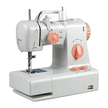 J.FANG Máquina De Coser Máquinas De Coser Domésticas Eléctricas Luz De LED Incorporada Y Cuchillo De Corte,220V: Amazon.es: Hogar
