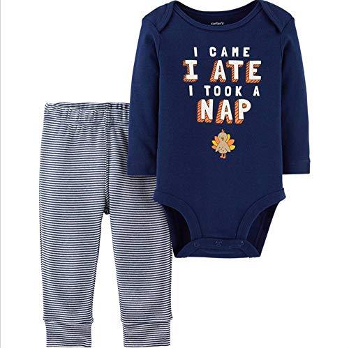 Carter's I Came, I Ate, I Took A Nap Set 2-Piece Cotton Long Sleeve Bodysuit Pant Set 12 Months ()