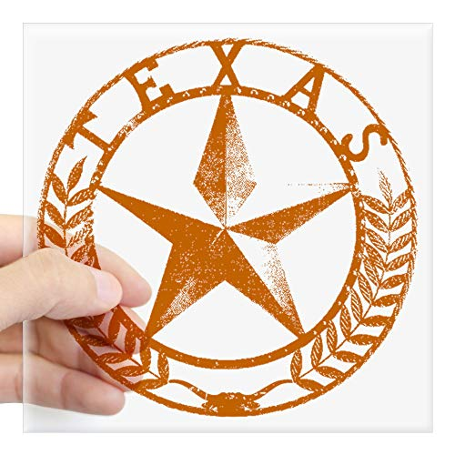 CafePress Texas Star Sticker Square Bumper Sticker Car Decal, 3