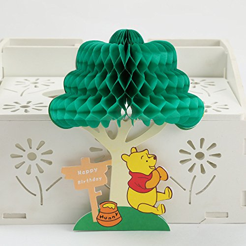 (3D Birthday Pop Up Card and Envelope - Funny Unique Pop Up Greeting Card Gift for Birthday saying Happy Birthday. Winnie the Pooh Happy)