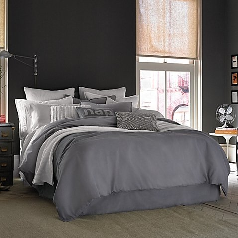 Kenneth Cole Reaction Home Mineral King Duvet Cover In Gunmetal