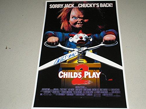 Alex Vincent Signed 11x17 Child's Play 2 Movie Poster Autograph