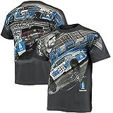 Dale Earnhardt Jr. Total Print Men's T-Shirt-Charcoal (Large)