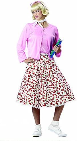 1950s Costumes- Poodle Skirts, Grease, Monroe, Pin Up, I Love Lucy California Costumes Womens Retro 50s Sweetheart Adult Costume Size Medium 8-10 $14.99 AT vintagedancer.com