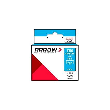 Arrow T50 - Grapas de acero inoxidable gama, 0079055721185 ...