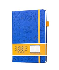 Scribbles That Matter (Iconic version) Dotted Journal Notebook Diary A5 - Elastic Band - Beautiful Designer Cover - Premium Thick Paper (Cubbie Blue)