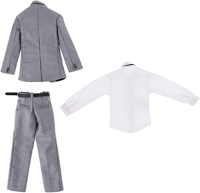 Amazon.es: Homyl Escala 1/6 Conjunto de Traje de Negocio Gris Mini ...