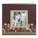 Pioneer Photo Albums 20 Page Designer Printed Raised Frame Garden Cover Scrapbook for 8 by 8-Inch Pages