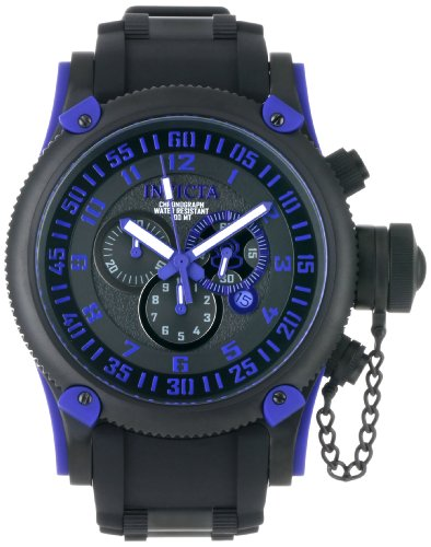 Invicta Men's 0518 Russian Diver Chronograph Black Ion-Plated Watch