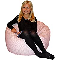 Ahh! Products Gingham Checker Pink Kid Bean Bag Chair