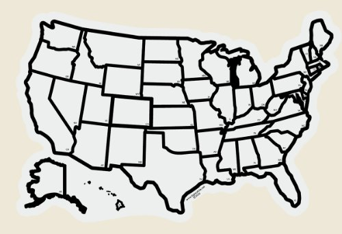 Amazon RV and Travel USA State Sticker Map standard size – Rv Travel Map