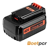 LBXR2036 2.5Ah Replace for Black and Decker 40V lithium Battery Max LBX36 LBX2040 LBXR2036 LBX2540 LBX1540 LST540 LCS1240 LBX1540 LST136W Series Cordless Power Tool