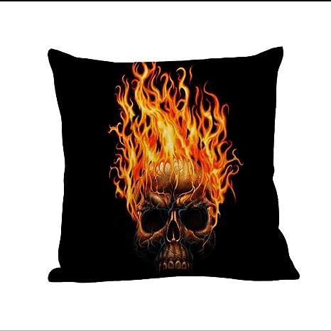 SEWORLD Halloween Cojín Caja Lino sofá Divertido Ghost Pad Cojín Decoración, Multicolor, B