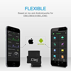 VXDAS Faslink Bluetooth OBD2 Scanner Code Reader Professional Diagnostic OBDII Scan Tool for iPhone & Android M2