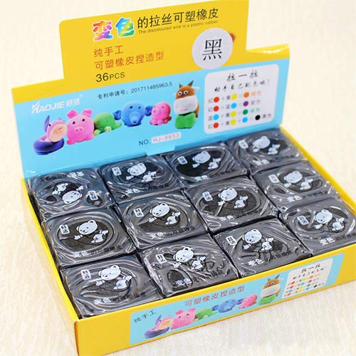 Drawing Kneaded Erasers for Artists Students- Black (36 Pcs)