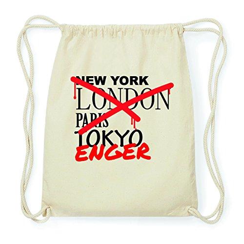 JOllify ENGER Hipster Turnbeutel Tasche Rucksack aus Baumwolle - Farbe: natur Design: Grafitti Ueeyg0
