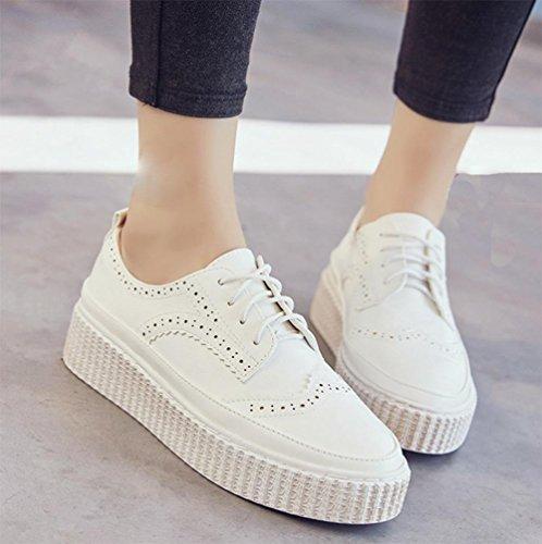 chaussures UK6 Mme muffin chaussures CN39 dentelle en US8 chaussures d'ascenseur Spring EU39 croûte épaisses tHrHq7w