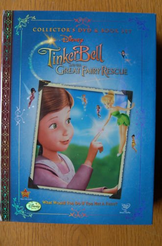Tinkerbell and The Great Fairy Rescue Collectors DVD and Book Set