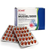 Hi Well Premium Green Lipped Mussel 10000mg 200 Capsules New Zealand Green Lipped Mussel Extract Oil Joint Health Support & Mobility