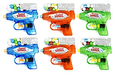 "Set of () - 5"" Assorted Water Guns With Gumball Container! Perfect for Movie Night, Feild Trips, Road Trips and More!"