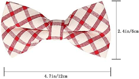 COTREAM Mens Pre-tied Adjustable Bow Tie Elegant Formal Suit Bow Ties for Boy 5 Pcs C-11