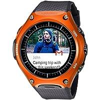 Casio WSD-F10 reloj inteligente para exteriores, Negro/Anaranjado