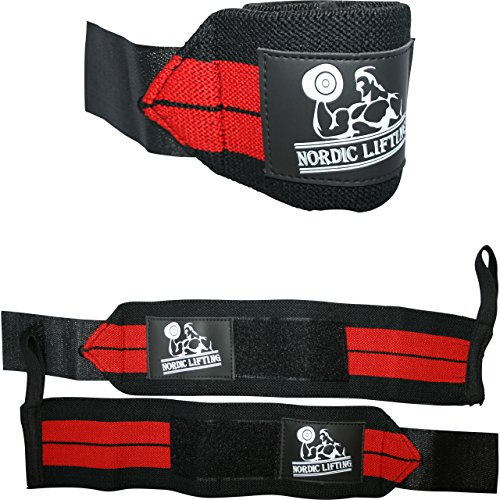 "Wrist Wraps (1 Pair/2 Wraps) 14"" for Weightlifting 