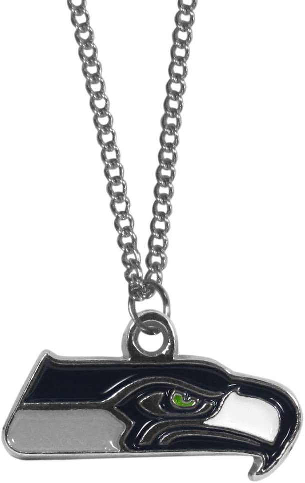 NFL Chain Necklace with Small Pendant 20 Silver