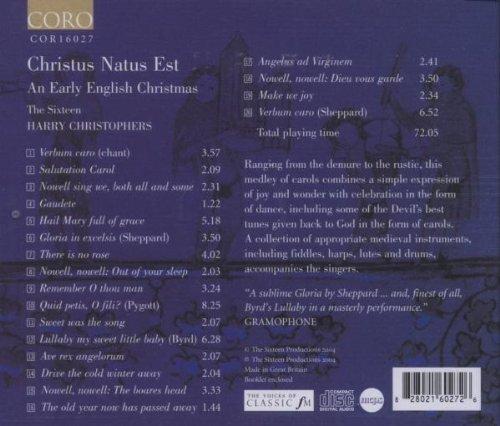 Christus Natus Est: Early English Christmas by Coro (Image #1)