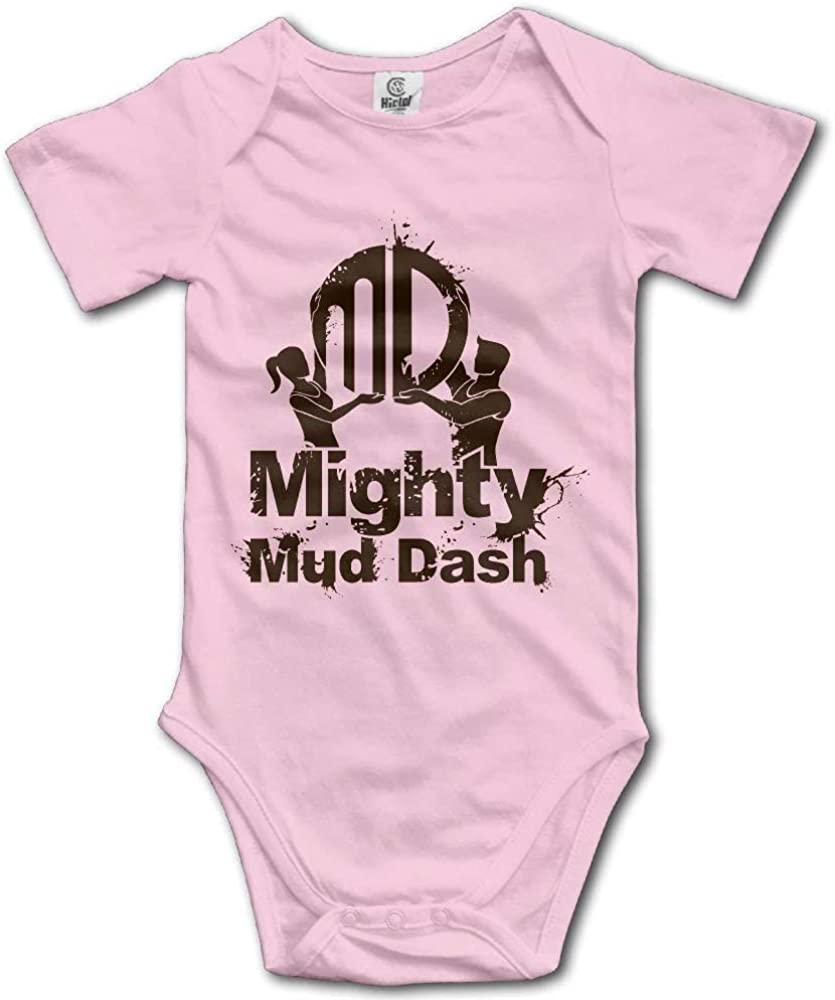 SiYooca Mighty Mud Dash Short Sleeves Baby Bodysuits Outfits Infant Clothes Romper