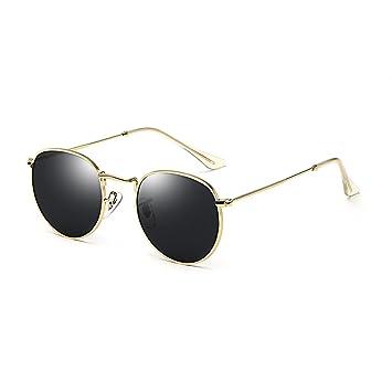 ZHHL Gafas de Sol para Mujer Protección UV 400 Gafas 100% Marco Redondo  Damas Gafas Vintage clásicas (Color   Negro)  Amazon.es  Deportes y aire  libre 84113b54a07a