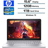 2018 HP Flagship Pavilion 15.6 Inch Full HD IPS Laptop (1920 x 1080), Intel HD Graphics 620, 7th Gen Intel Core i7 7500U (Up to 3.5 GHz), 12GB DDR4 Memory, 1TB SATA HD, Windows 10