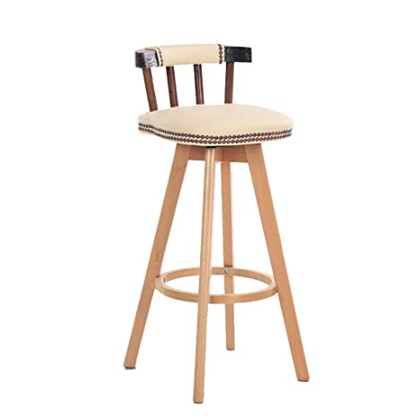 Tremendous Amazon Com Barstools Wooden Bar Stool Rotating Artificial Machost Co Dining Chair Design Ideas Machostcouk