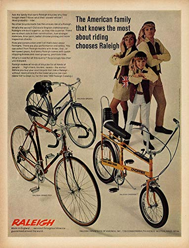 The American family that knows riding chooses Raleigh Chopper Grand Prix ad 1969