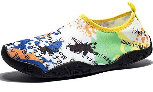 DOTACOKO Aqua Schuhe Männer Frauen Kinder Leichte Schnell Trocknende Wasserschuhe Sport Turnschuhe Für Strand Gelb1