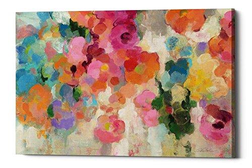 Epic Graffiti Colorful Garden I by Silvia Vassil Eva Gisele Canvas Wall Art, 40
