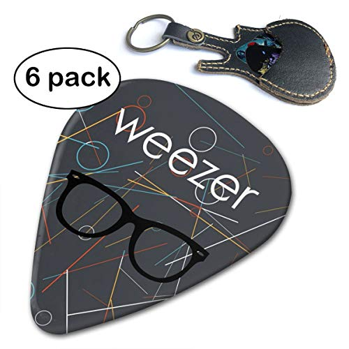 (PSnsnX Guitar Picks Weezer - Weezer Album Cover Guitar Accessories Celluloid Plectrums For Musice Gift Music Lover (6pc) )