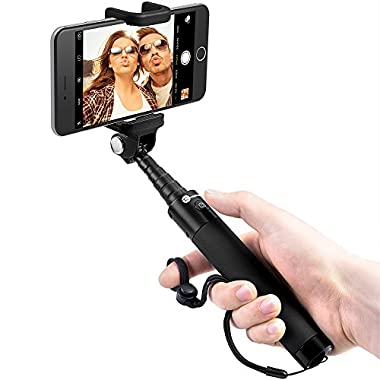 TaoTronics Bluetooth Selfie Stick with Built-in Remote Shutter Extendable Aluminum Monopod for Android and iOS Smartphone
